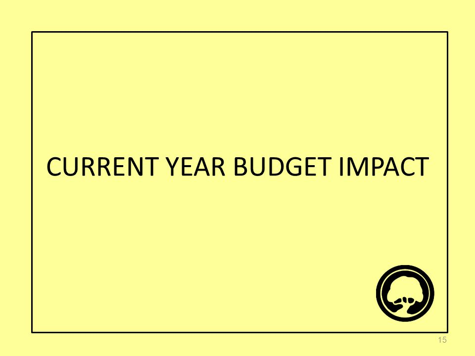 CURRENT YEAR BUDGET IMPACT 15