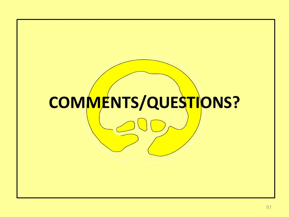 COMMENTS/QUESTIONS 61