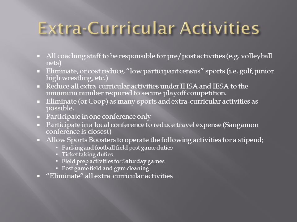  All coaching staff to be responsible for pre/post activities (e.g.