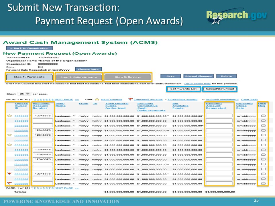 Submit New Transaction: Adjustment Request (Closed Award) 26 Optional Slide (T5)