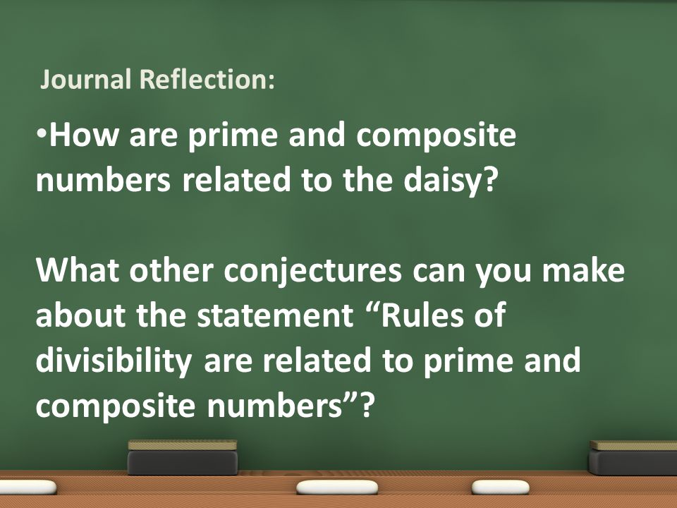 How are prime and composite numbers related to the daisy.