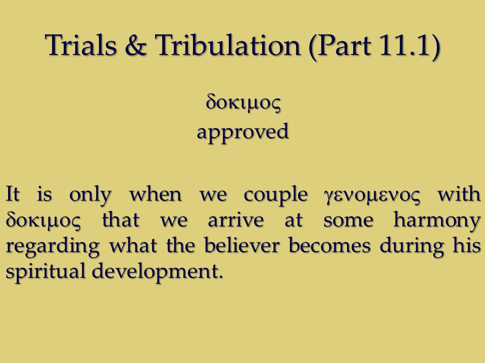 Trials & Tribulation (Part 11.1) approved It is only when we couple  with  that we arrive at some harmony regarding what the beli