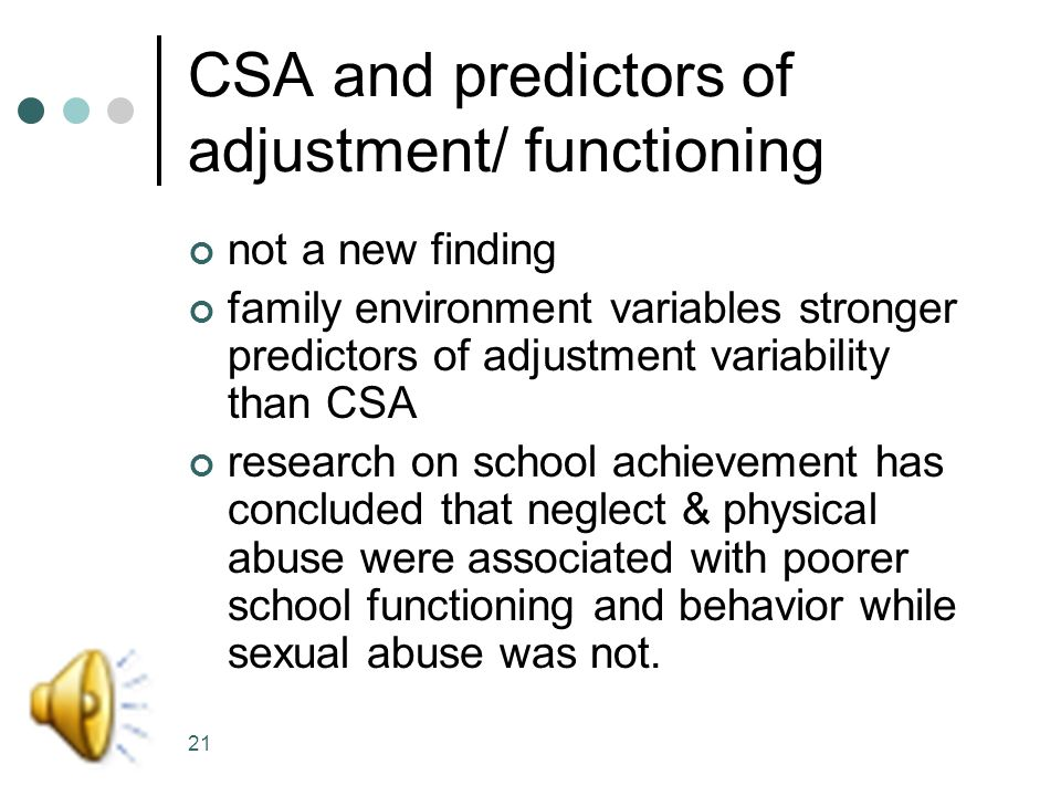 20 Comparing CSA and Family Environment correlations