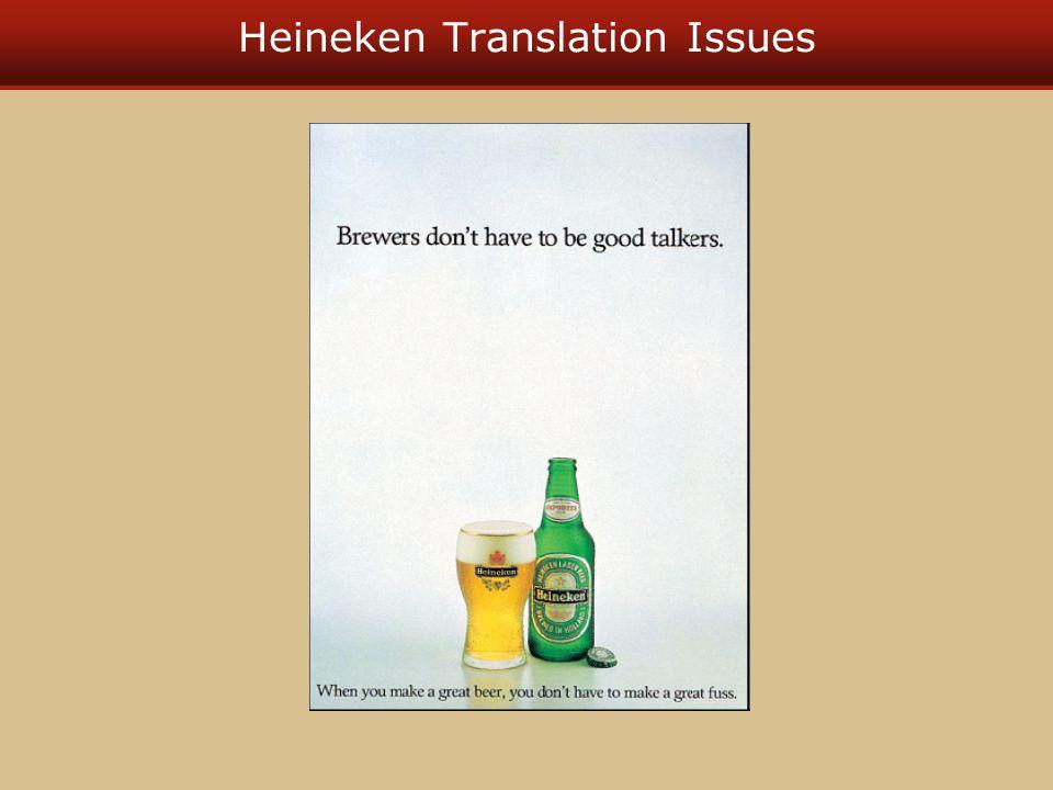 Heineken Translation Issues