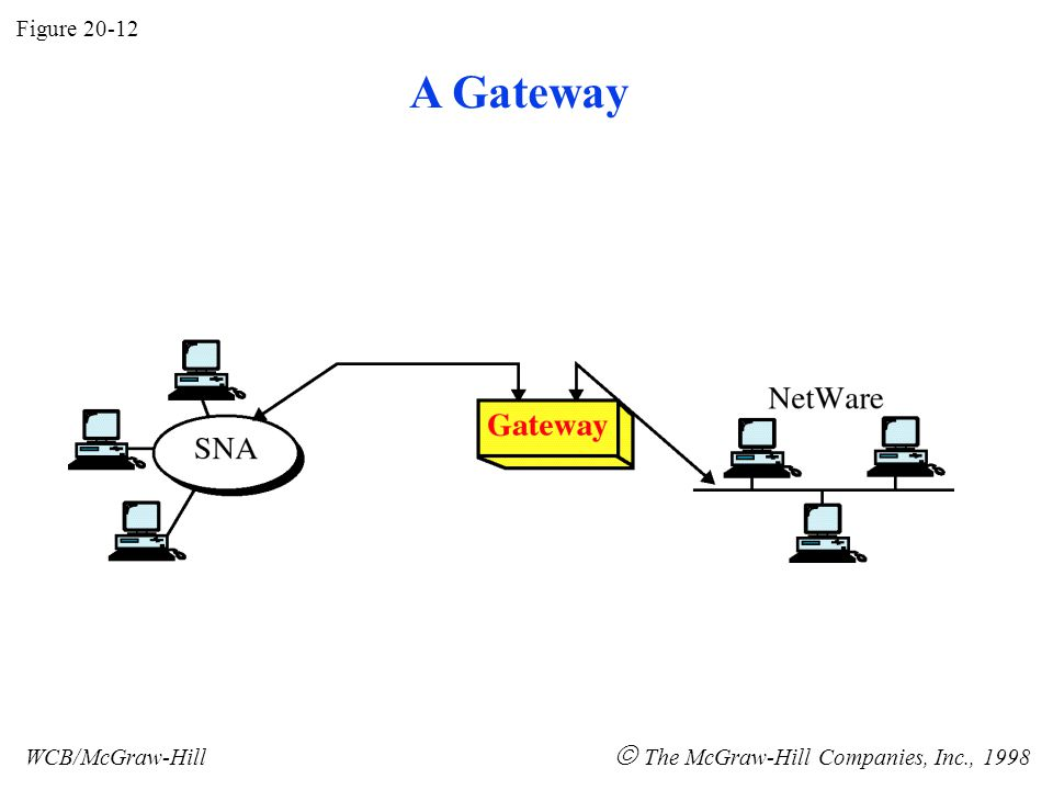 Figure 20-12 WCB/McGraw-Hill  The McGraw-Hill Companies, Inc., 1998 A Gateway