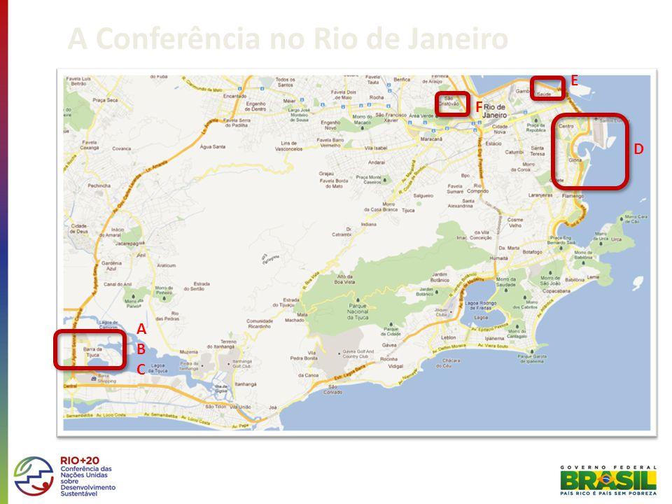 A Conferência no Rio de Janeiro ABCABC F E D