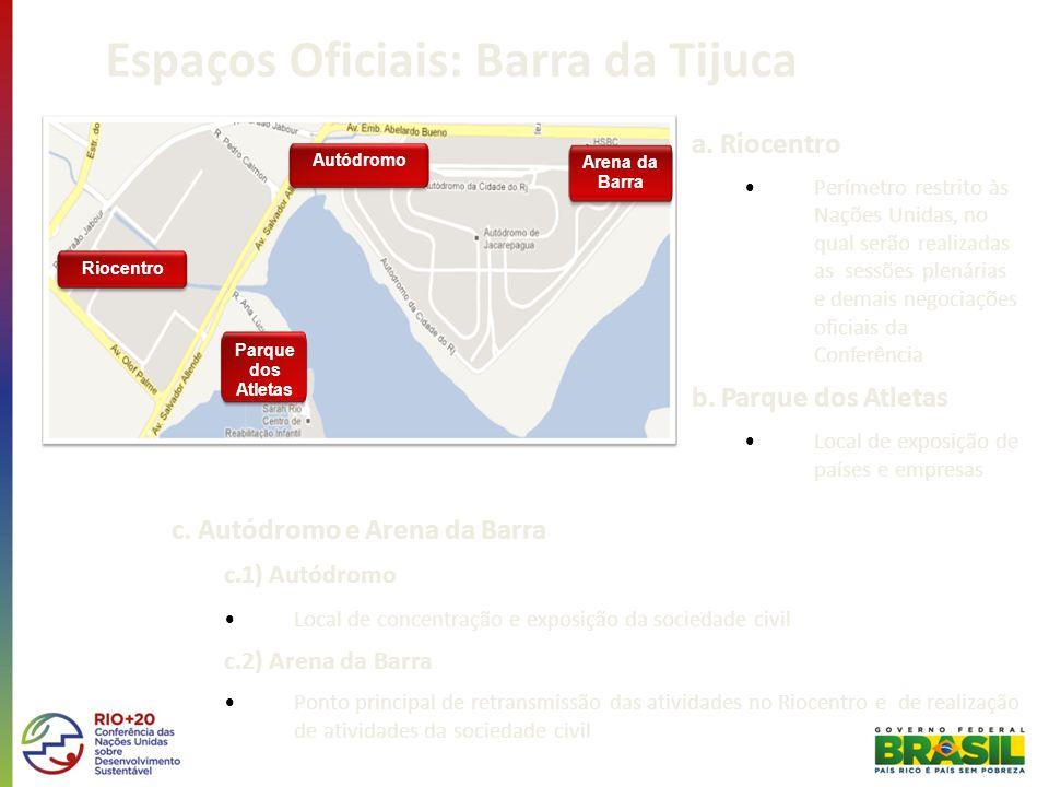 Espaços Oficiais: Barra da Tijuca a.