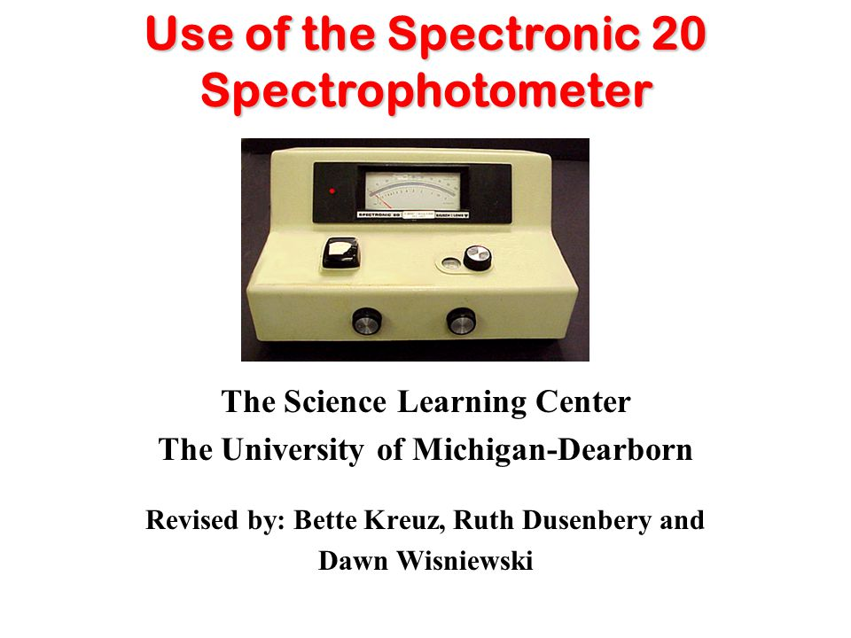 Slide 1a-Introduction Spectrophotometers are instruments that measure the amount of light absorbed by solutions.