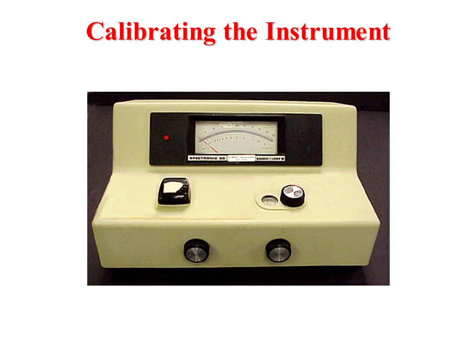 Calibrating the Instrument