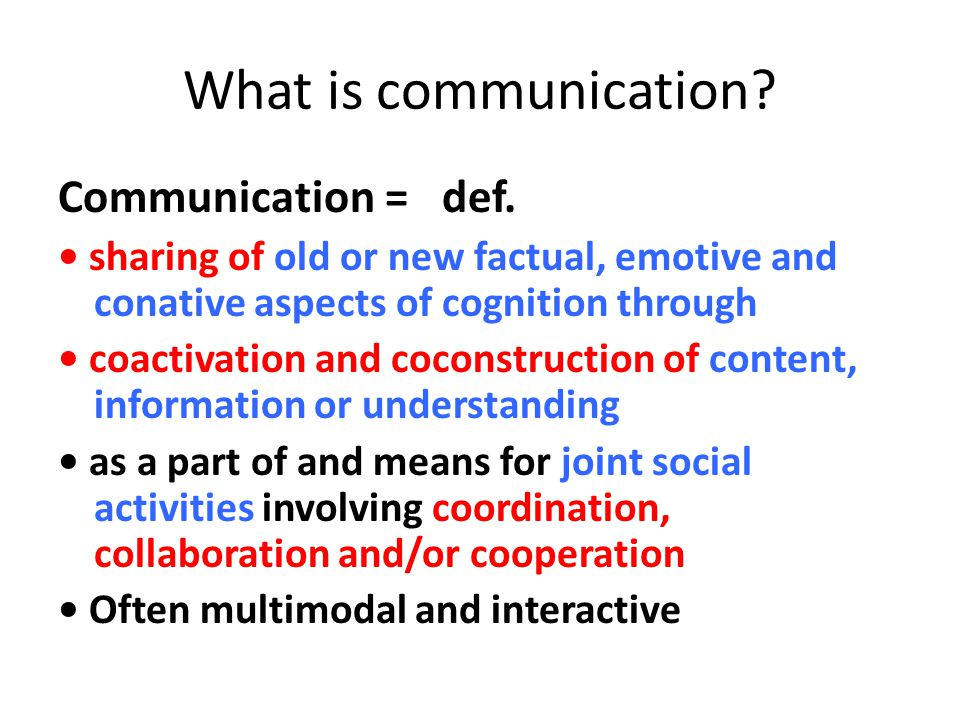 Coactivation coactivation , referring to basic attunement processes in communication involves sharing of resources between production and perception, making it possible to reuse for perception what has been produced and to reuse for production what has been perceived.