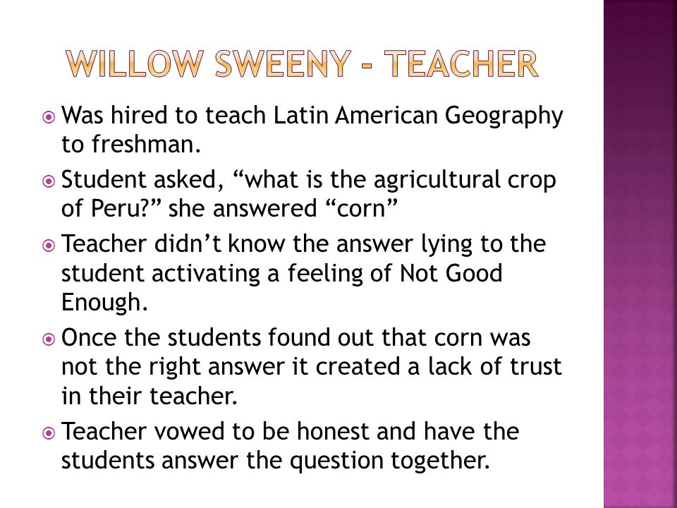  Was hired to teach Latin American Geography to freshman.