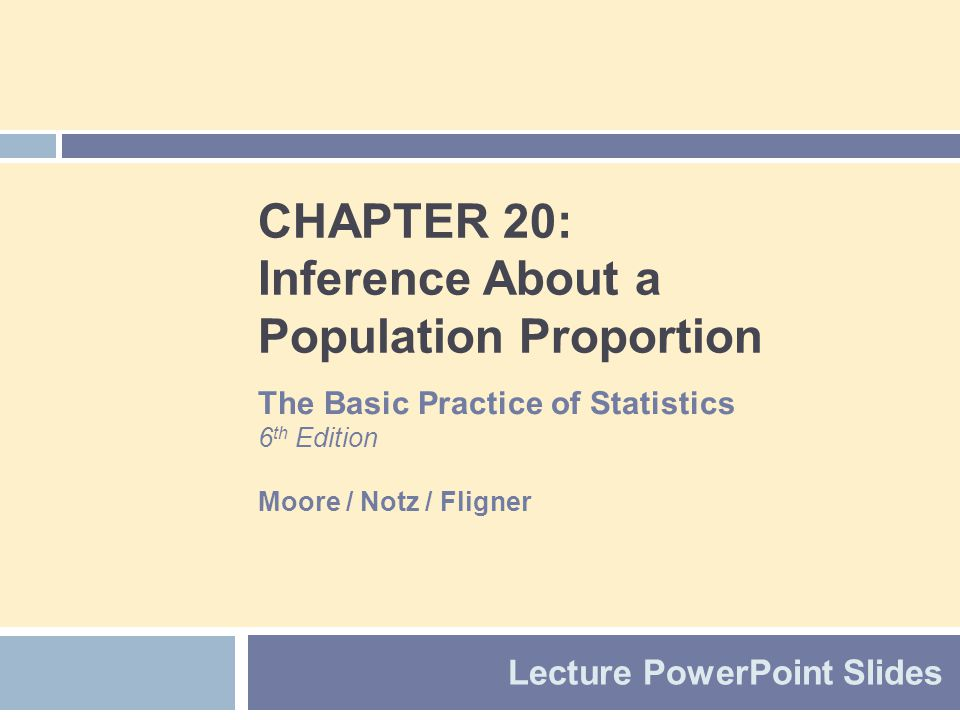 Chapter 20 Concepts 2  The Sample Proportion  Large-Sample Confidence Interval for a Proportion  Accurate Confidence Intervals for a Proportion  Choosing the Sample Size  Significance Tests for a Proportion