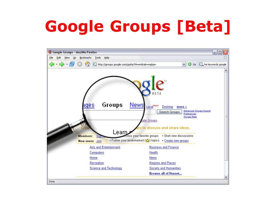 Google Groups [Beta]