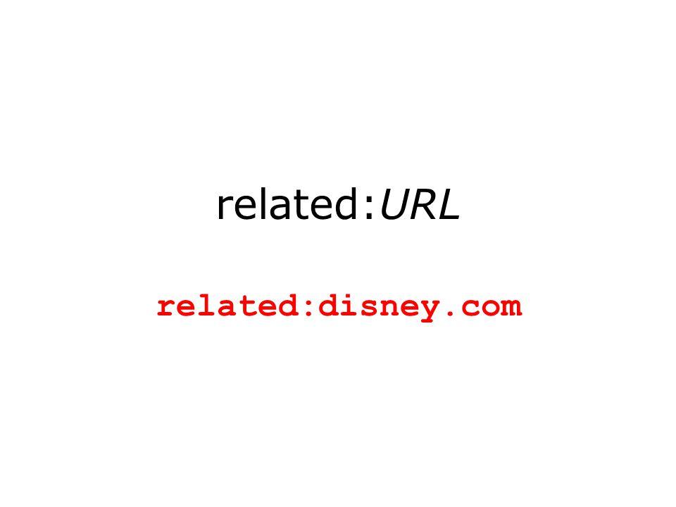 related:URL related:disney.com