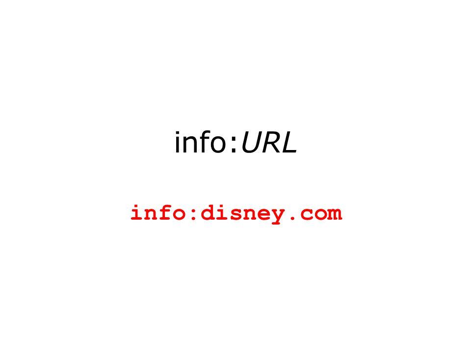 info:URL info:disney.com