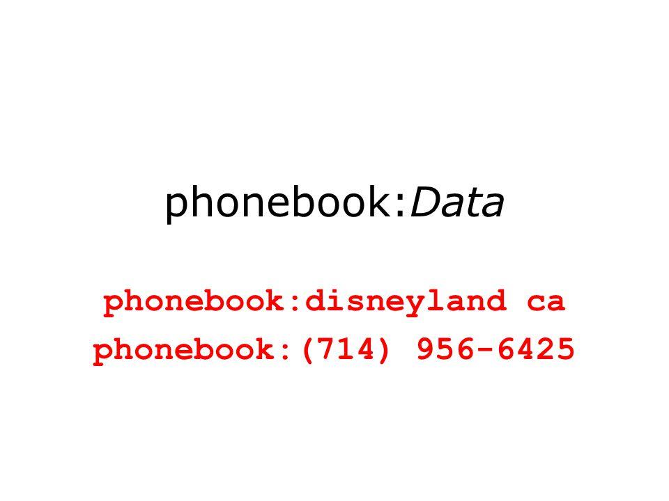 phonebook:Data phonebook:disneyland ca phonebook:(714) 956-6425