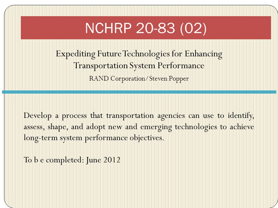 Products Practical framework for transportation professionals to think more effectively about technology.