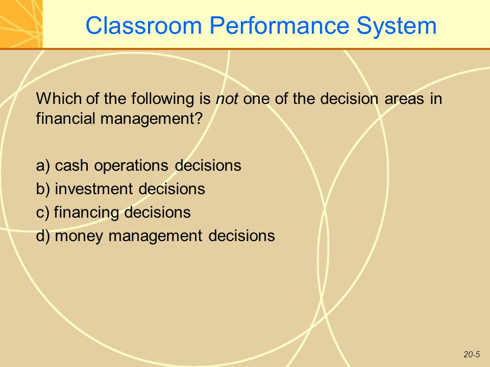 20-26 Classroom Performance System Firms can transfer liquid funds across border using all of the following techniques except: a) dividend remittances b) royalty payments and fees c) transfer prices d) backing loans