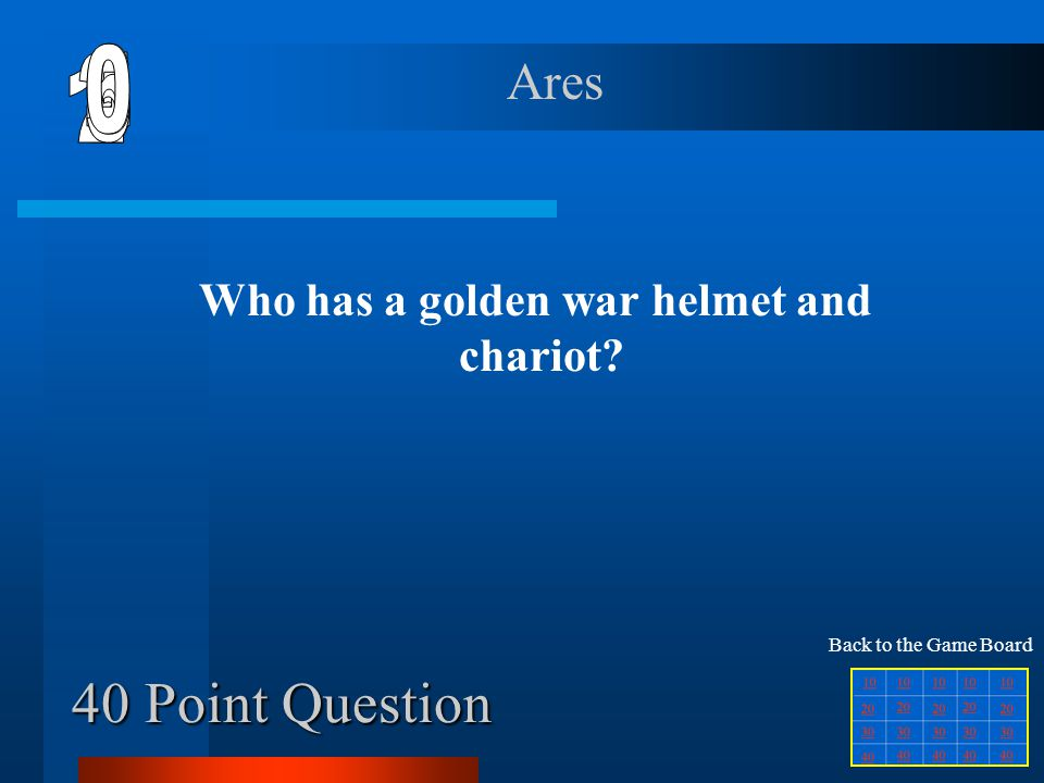 30 Point Question Who has a golden hat with wings, winged sandles and a cape to hide tricks.