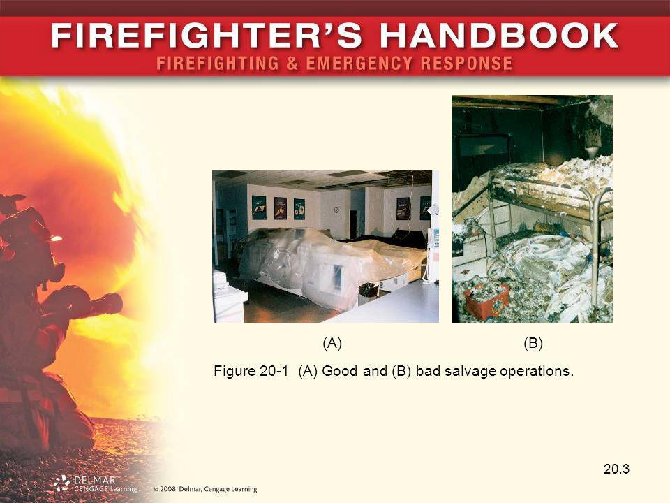 20.3 Figure 20-1 (A) Good and (B) bad salvage operations. (A)(B)