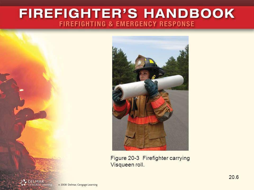 20.6 Figure 20-3 Firefighter carrying Visqueen roll.