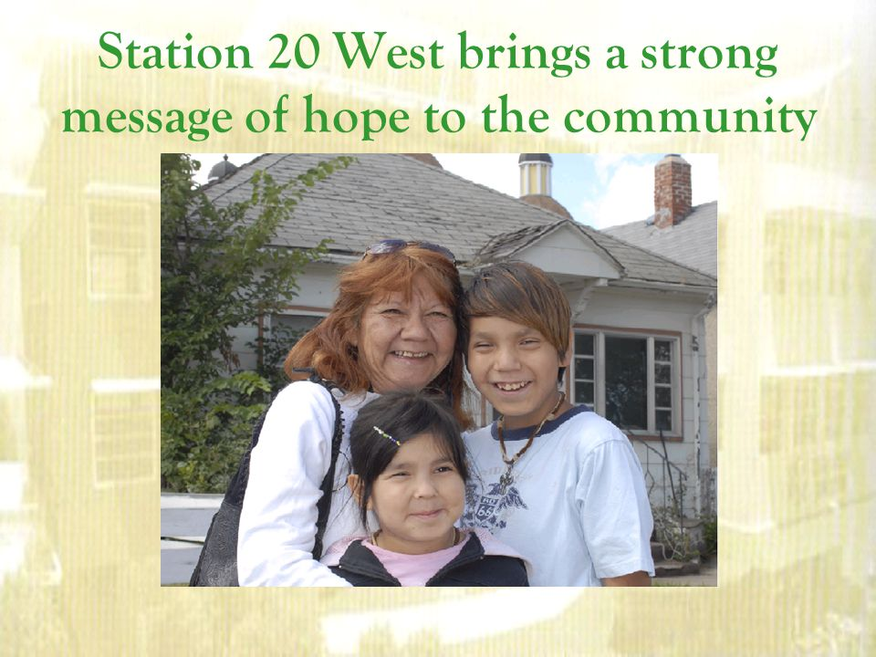 Station 20 West brings a strong message of hope to the community
