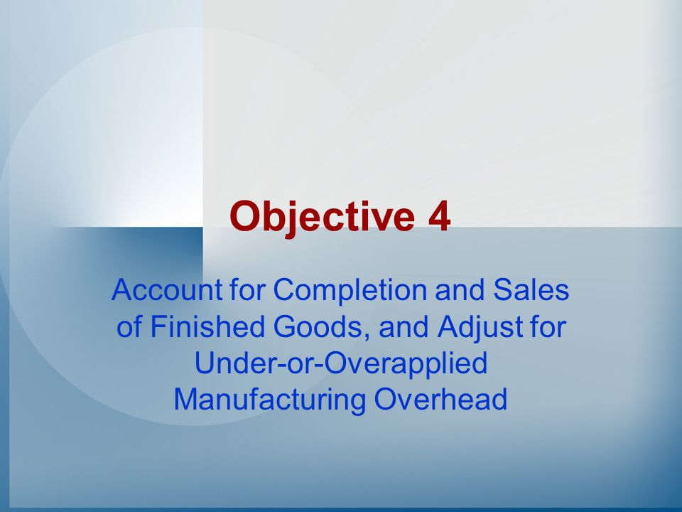 Work-in-Process Inventory10,800 Manufacturing Overhead10,800 To record overhead applied to Job 51 Manufacturing Overhead Example Assume that Job 51 used 200 direct labor hours.
