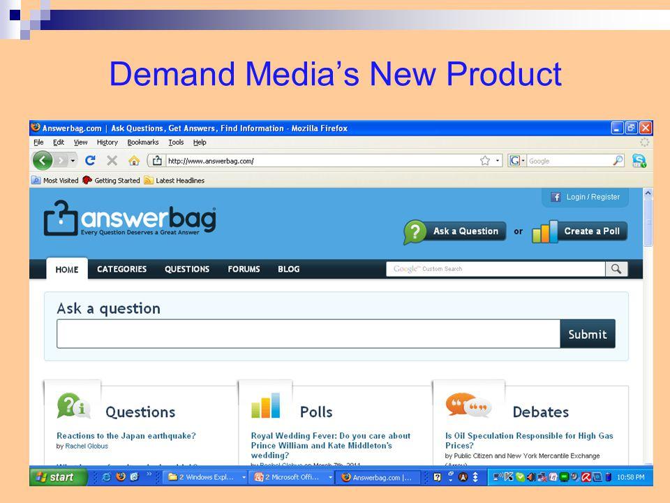 Demand Media's New Product 20-14
