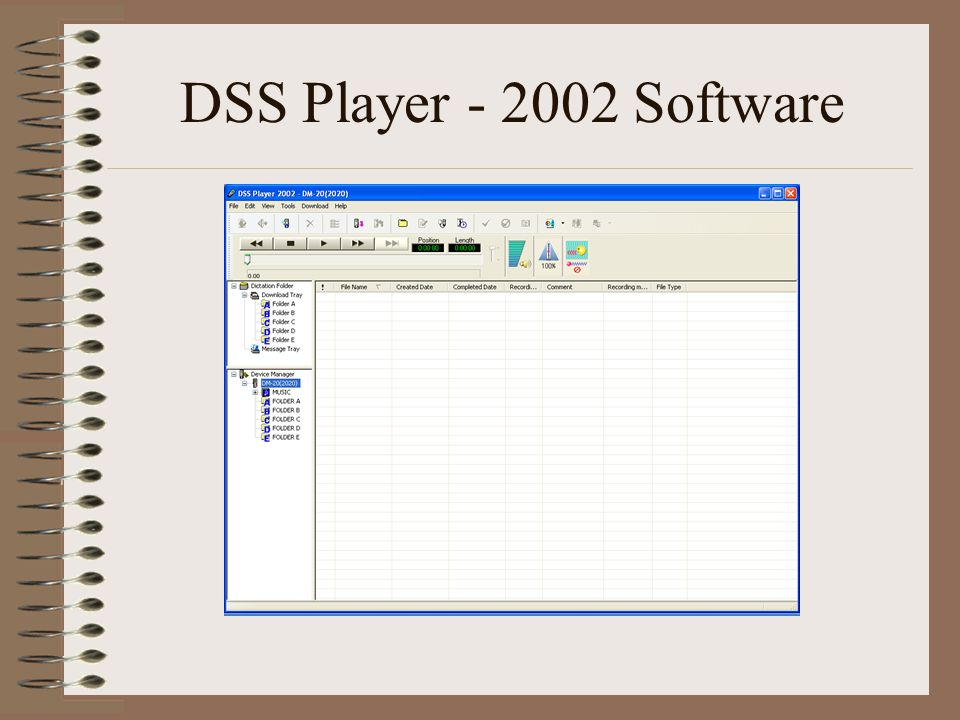 DSS Player - 2002 Software
