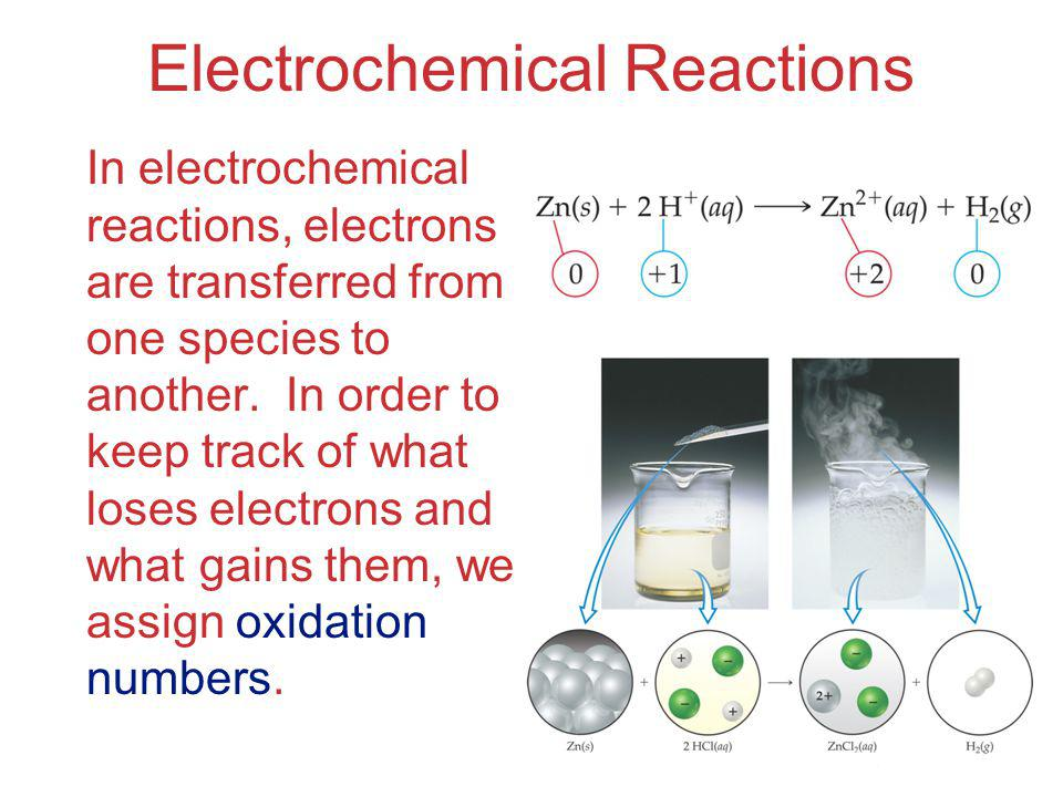Electrochemistry Examples of reactions that are redox reactions (write equations) A piece of solid bismuth is heated strongly in oxygen.