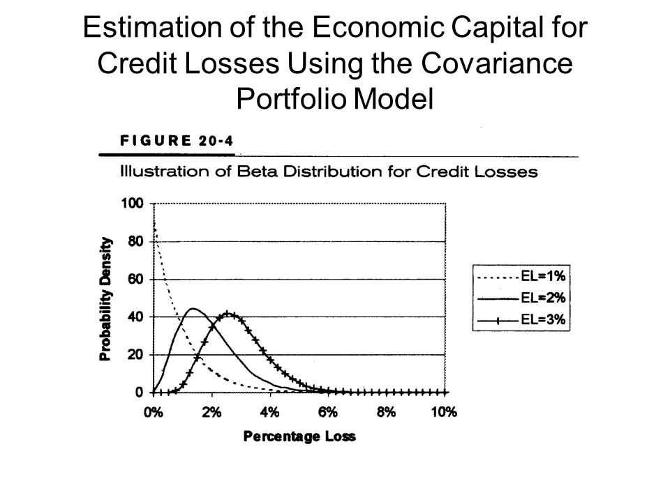 Estimation of the Economic Capital for Credit Losses Using the Covariance Portfolio Model