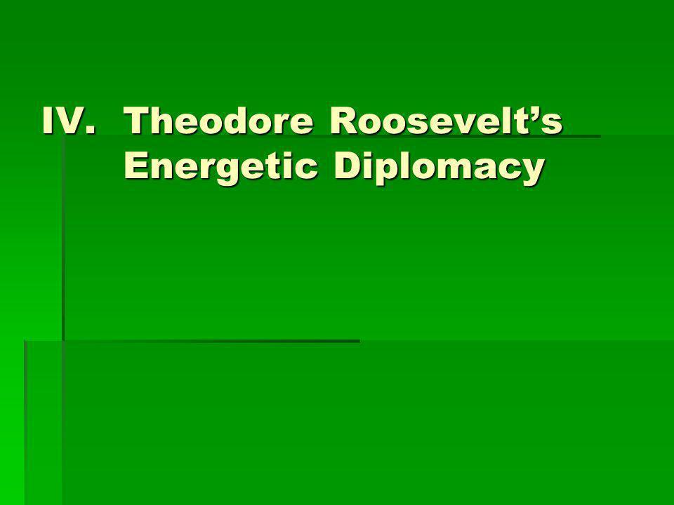 IV.Theodore Roosevelt's Energetic Diplomacy