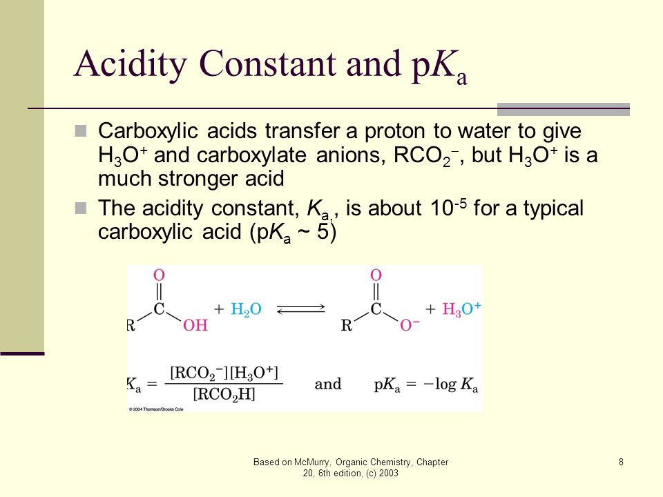 Based on McMurry, Organic Chemistry, Chapter 20, 6th edition, (c) 2003 29 Mechanism of Hydrolysis of Nitriles Nucleophilic addition of hydroxide to C  N bond Protonation gives a hydroxy imine, which tautomerizes to an amide A second hydroxide adds to the amide carbonyl group and loss of a proton gives a dianion Expulsion of NH 2  gives the carboxylate