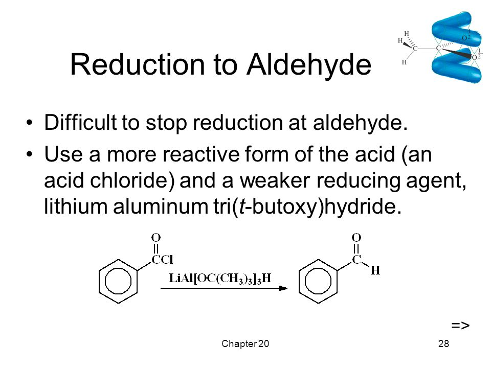 Chapter 2028 Reduction to Aldehyde Difficult to stop reduction at aldehyde.