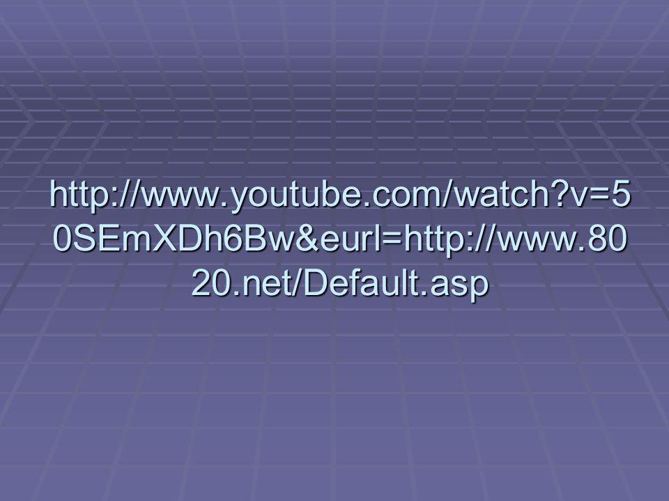 http://www.youtube.com/watch v=5 0SEmXDh6Bw&eurl=http://www.80 20.net/Default.asp