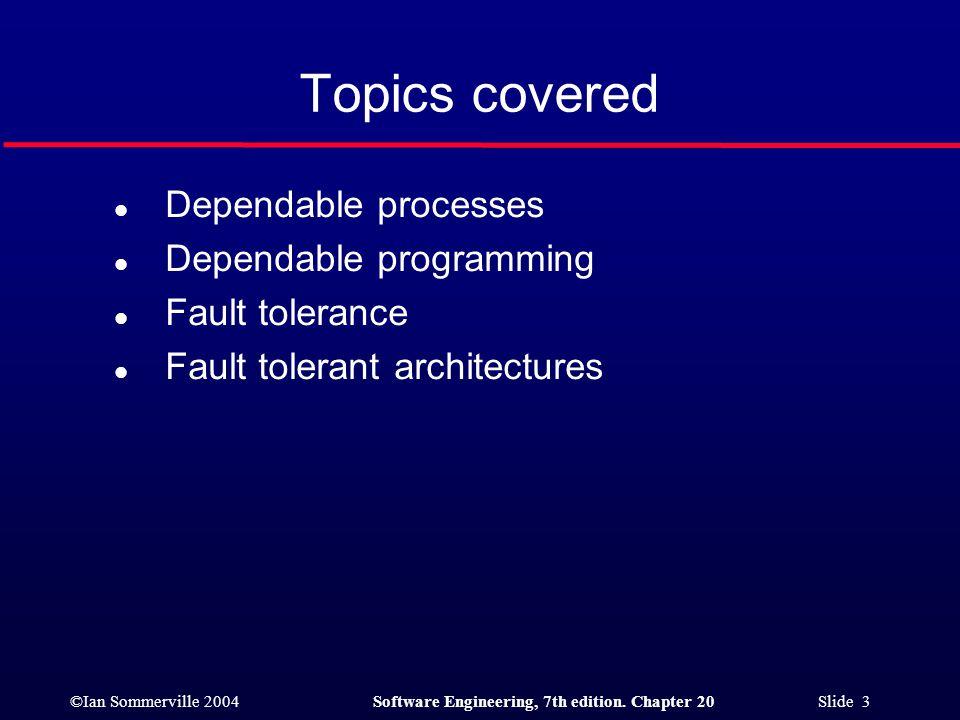 ©Ian Sommerville 2004Software Engineering, 7th edition. Chapter 20 Slide 44 Safe sort 1