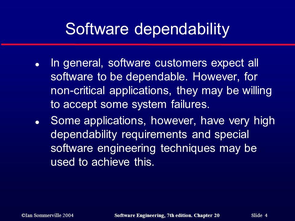 ©Ian Sommerville 2004Software Engineering, 7th edition. Chapter 20 Slide 45 Safe sort 2