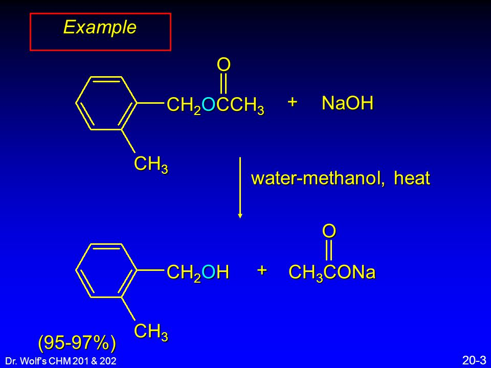 Dr. Wolf s CHM 201 & 202 20-24 RCOR O RCNR 2 O RCO – O Reactions of Esters