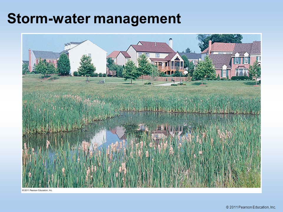 © 2011 Pearson Education, Inc. Storm-water management