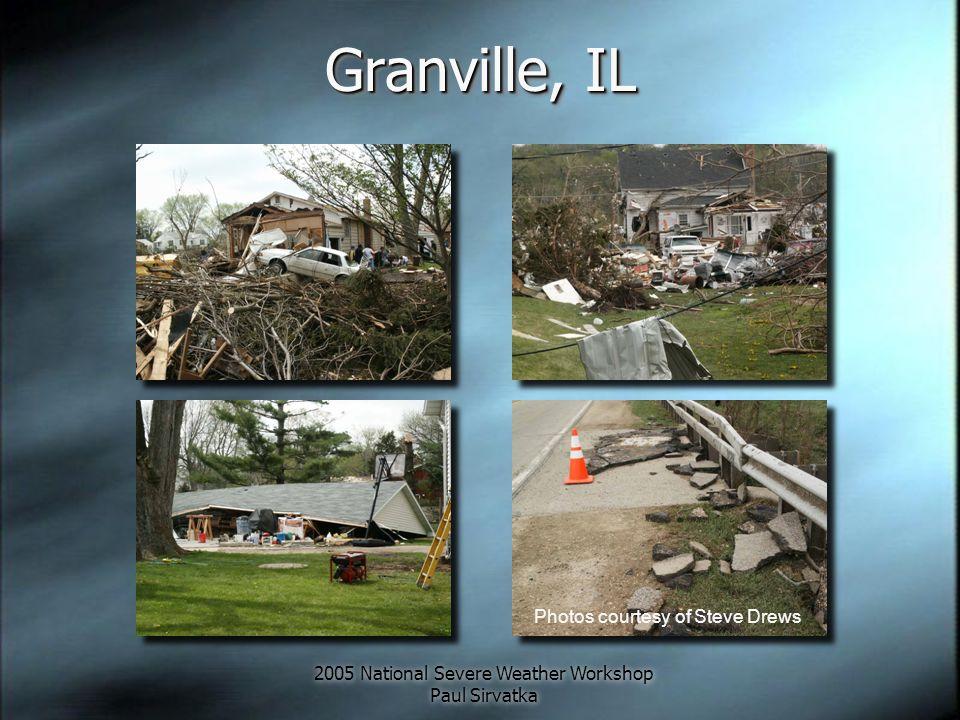 2005 National Severe Weather Workshop Paul Sirvatka Granville, IL Photos courtesy of Steve Drews