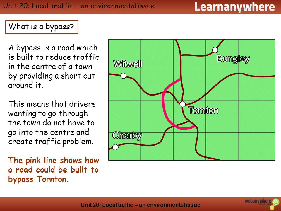 Geography Unit 20: Local traffic – an environmental issue What are the issues involved in constructing the by-pass.