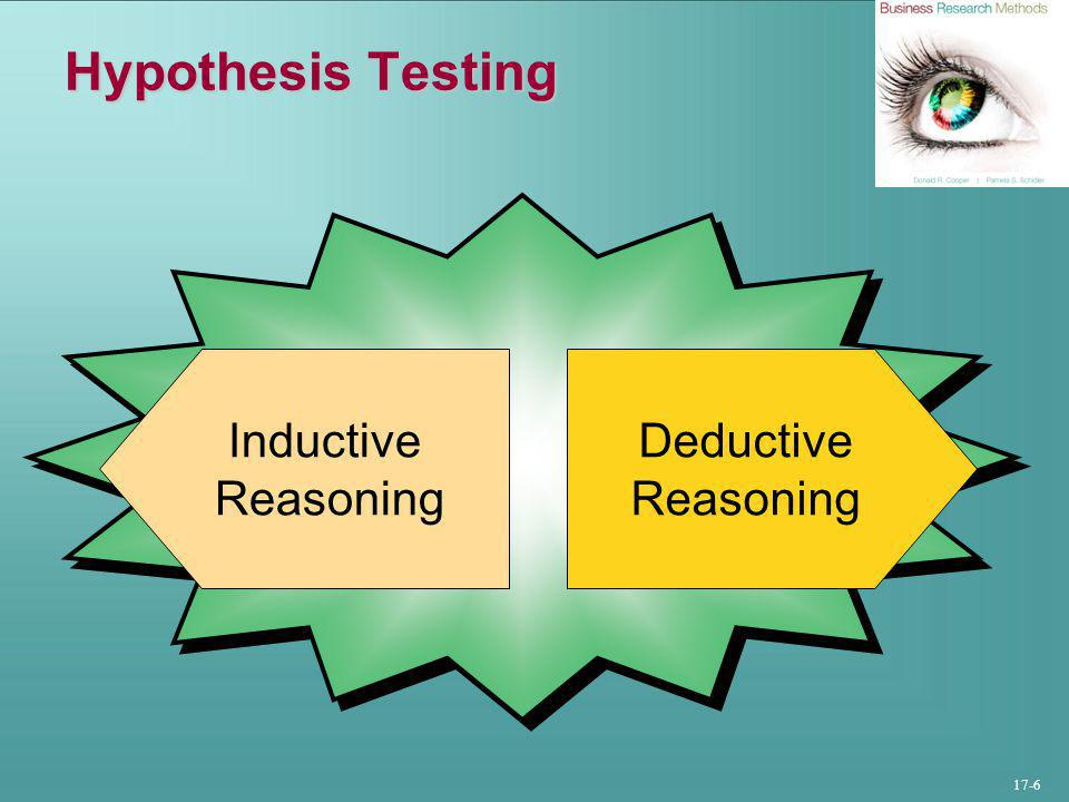 17-6 Hypothesis Testing Deductive Reasoning Inductive Reasoning