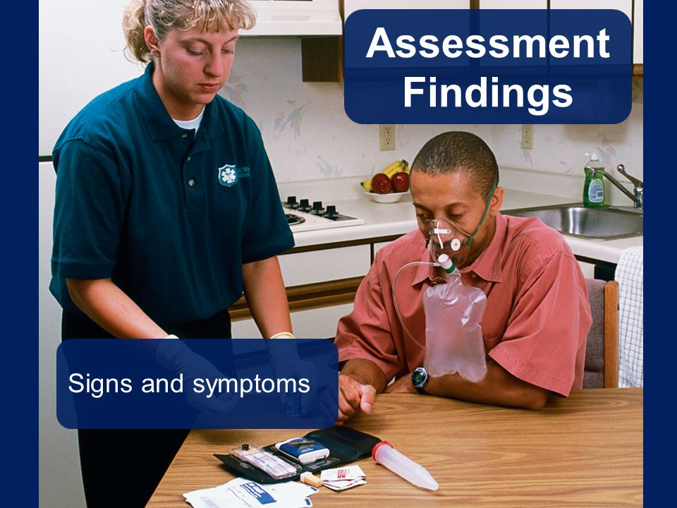 Assessment Findings Signs and symptoms