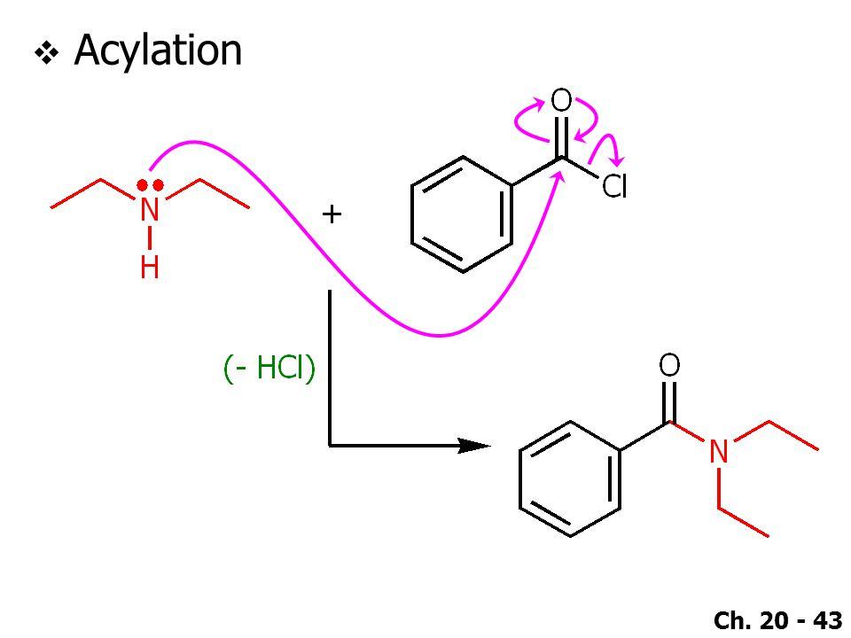 Ch. 20 - 43  Acylation