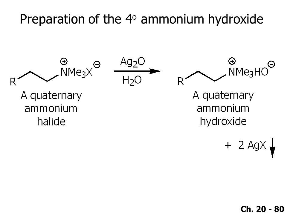 Ch. 20 - 80 Preparation of the 4 o ammonium hydroxide
