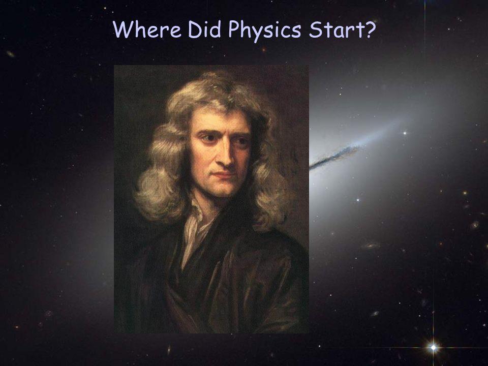 Where Did Physics Start