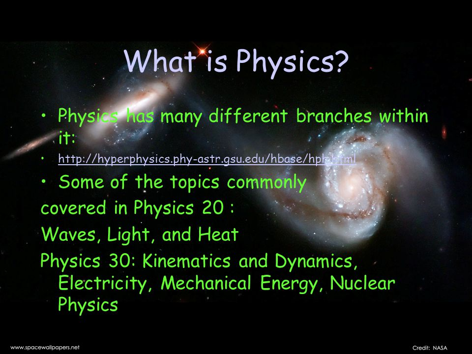 What is Physics.