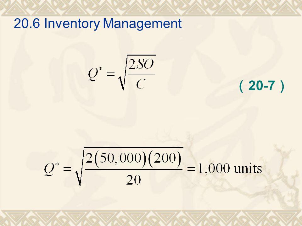 20.6Inventory Management ( 20-7 )