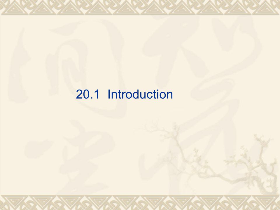 20.1 Introduction
