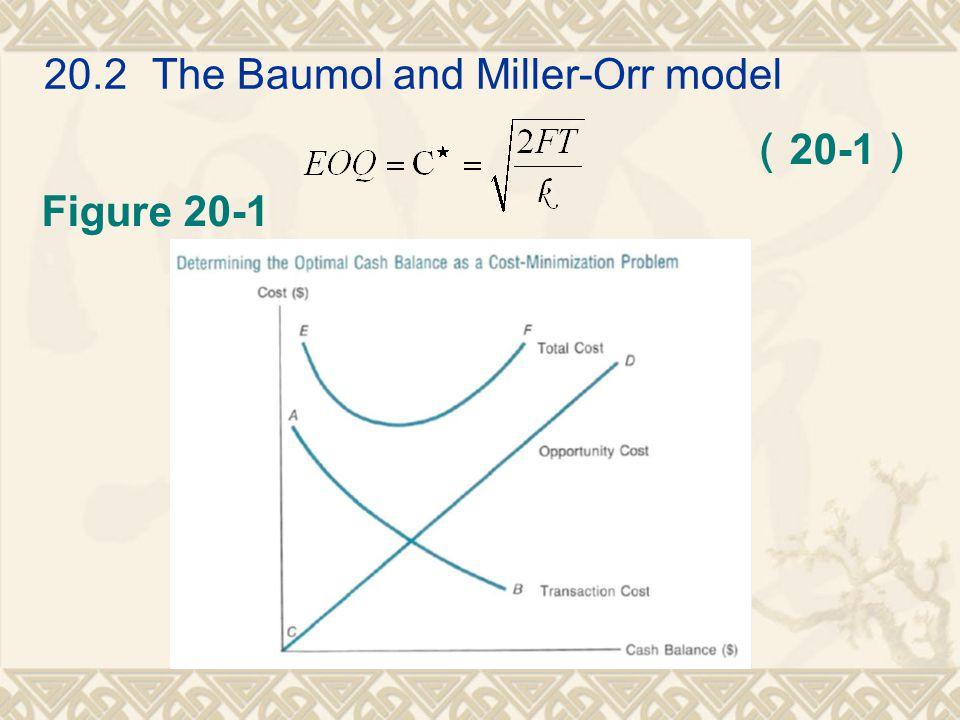 20.2 The Baumol and Miller-Orr model ( 20-1 ) Figure 20-1